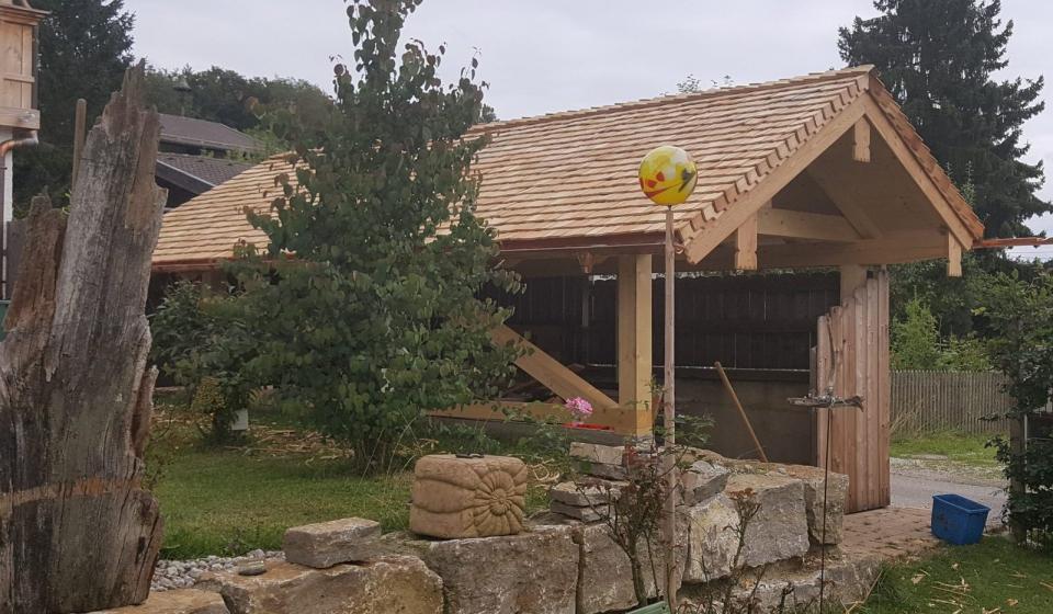 Garage Hütte